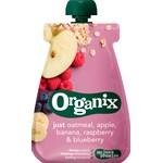 Organix Oatmeal, Apple, Banana, Raspberry, Blueberry Klämpåse 100g