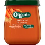 Organix Carrot & Quinoa Glasburk 120 g