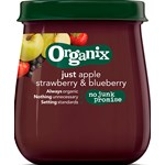 Organix Apple, Strawberry & Blueberry Glasburk 120 g