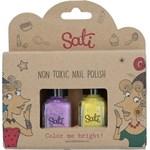 Sati Nagellack för barn 2-pack Lavender & Yellow