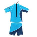 Zunblock UPF 50+ UV-Kläder Topp + Byxa Navy/Ljusblå