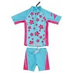 Zunblock UPF 50+ UV-Kläder Topp + Byxa Ljusblå/Ceris