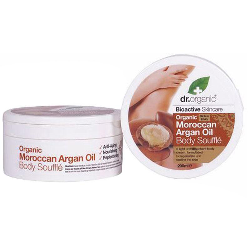 Dr.Organic Moroccan Argan Oil Body Soufflé 200 ml