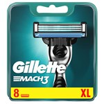 Gillette Mach3 Base Rakblad för män 8-pack