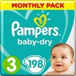 Pampers Baby-Dry Blöjor stl 3 6-10 kg 198 st