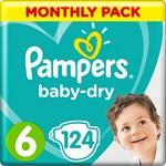 Pampers Baby-Dry Blöjor Stl 6, 13-18 kg 124 st