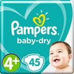 Pampers Baby-Dry Blöjor stl 4+, 9-20 kg 45 st