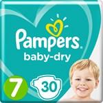 Pampers Baby-Dry Blöjor stl 7, 15+ kg 30 st