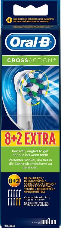 Oral-B CrossAction Borsthuvud Refill 8+2-pack - Apotek Hjärtat 87b838a6dea24