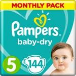 Pampers Baby-Dry Blöjor Stl 5, 11-16 kg 144 st
