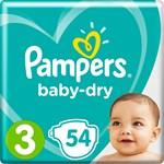 Pampers Baby-Dry Blöjor stl 3, 6-10 kg 54 st