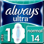 Always Ultra Normal wings Sanitetsbindor (Stl 1) 14 st
