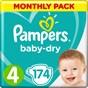 Pampers Baby-Dry Blöjor stl 4, 9-14 kg 174 st