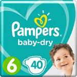 Pampers Baby-Dry Blöjor stl 6, 13-18 kg 40 st