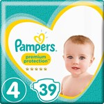 Pampers Premium Protection Blöjor stl 4, 9-14 kg 39 st
