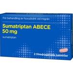 Sumatriptan ABECE 50 mg 2 filmdragerade tabletter