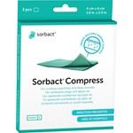 Sorbact Compress sårkompresser 3 st 4 x 6 cm