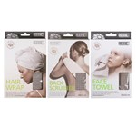 Smart Spa Beauty Set of 3 Hairwrap Backscrubber Facetowel