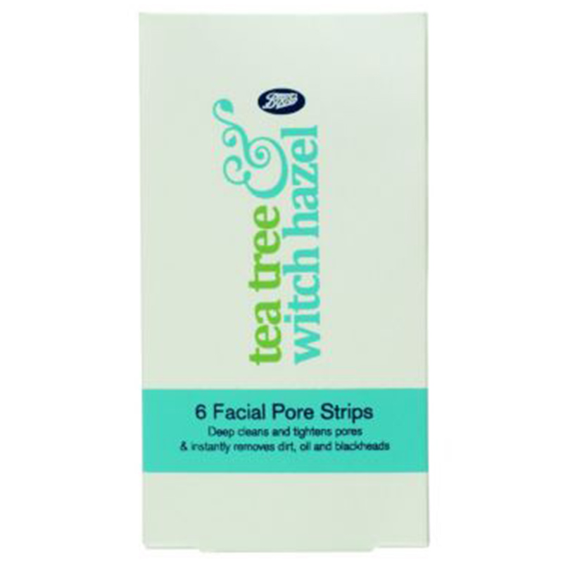 Boots Tea Tree & Witch Hazel Facial Pore Strips 6-pack