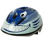 OKBaby Cykelhjälm med grönt spänne Haj Blå 46-53 cm