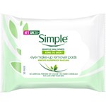 Simple Eye Makeup Remover Pads 30 st