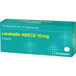 Loratadin ABECE Tablett 10 mg 14 st
