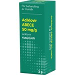 Aciklovir ABECE Kutant stift 50 mg/g 3 g