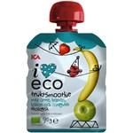 ICA I Love Eco Frukt & Yoghurtsmoothie Äpple Banan Hallon Jordgubb 90 g