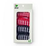 ICA I Love Eco Babysocka Röd/Svart 0-6 mån 2-pack