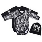 Baby NewBorn Body 2p + Mössa Vit/Svart Palm