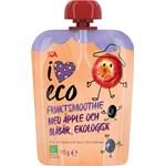 ICA I Love Eco Fruktsmoothie Äpple Blåbär 90 g