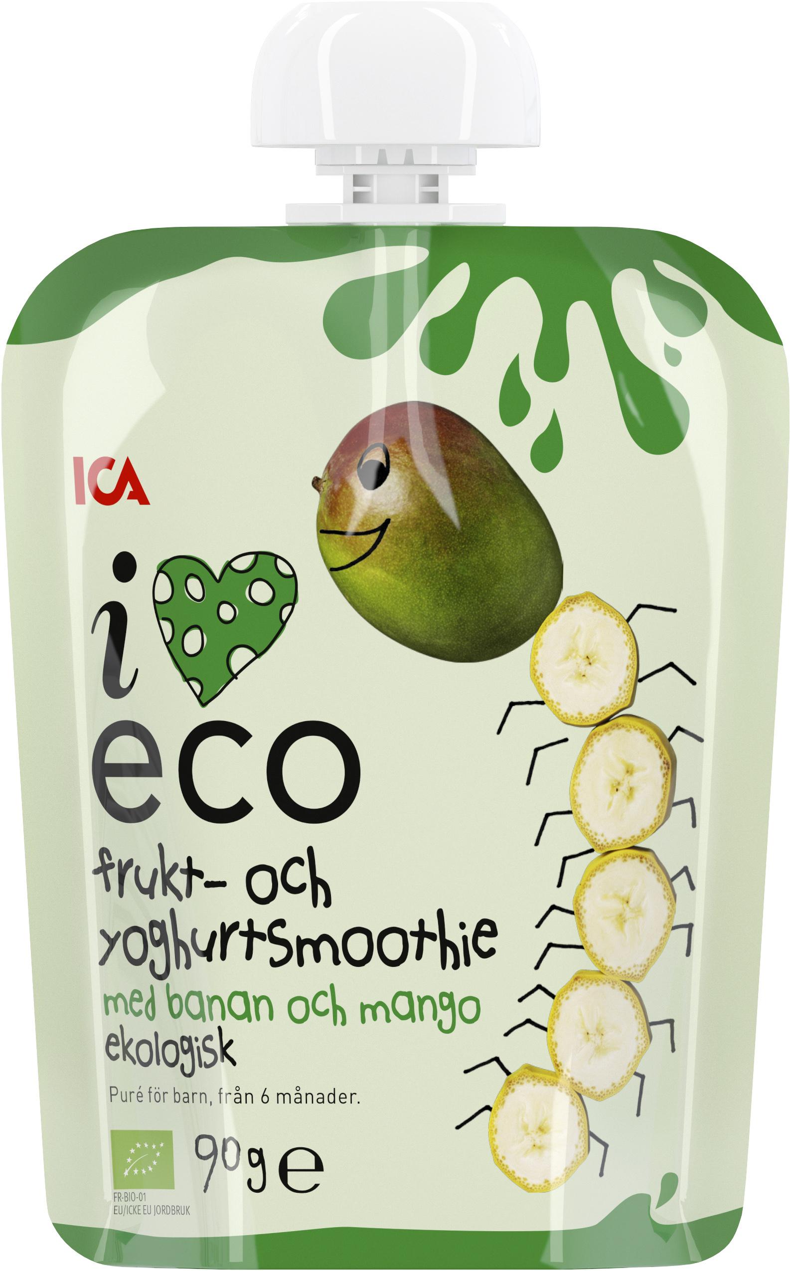 ICA I Love Eco Frukt   Yoghurtsmoothie Äpple Banan Hallon Jordgubb ... 0f6f99ac5583d