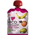 ICA I Love Eco Fruktsmoothie Äpple Päron Banan 90 g