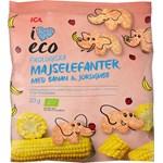 ICA I Love Eco Majselefanter Banan & Jordgubb 20 g