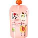 ICA I Love Eco Fruktgröt Persika Äpple Havre & Korn 120 g