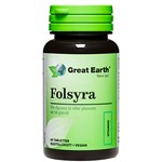 Great Earth Folsyra 400 mcg 60 tabletter