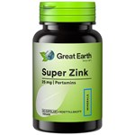 Great Earth Super Zink 25 mg 60 kapslar