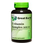 Great Earth E-Vitamin 200 I.U 90 tabletter
