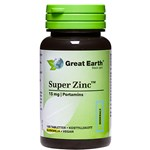 Great Earth Super Zink 15 mg 100 tabletter