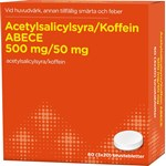 Acetylsalicylsyra/Koffein ABECE 500 mg/50 mg 60 brustabletter
