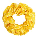 Hermine Hold Isabella Silk Scrunchie Yellow-White