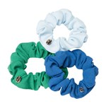 Hermine Hold Mini Scrunchies Ocean 3 st