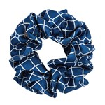 Hermine Hold Isabella Silk Scrunchie Navy-White