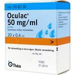 Oculac ögondroppar lösning i endosbehållare 50 mg/ml 20x0,4 ml