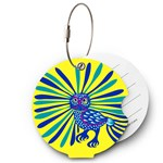 From Form Travel Essentials Bagagetag Owl Yellow
