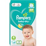 Pampers Baby-Dry S4 9-14 kg 49 st