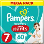 Pampers Baby-Dry Pants Stl 7 17 kg+ 60 st