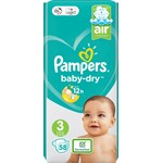 Pampers Baby-Dry S3 6-10 kg 58 st
