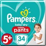 Pampers Baby-Dry Pants Stl 5+ 12-17 kg 34 st