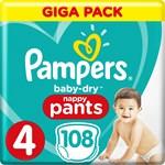 Pampers Baby-Dry Pants Stl 4 9-15 kg 108 st